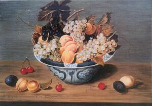 J. Van Hulsdonck - Nature morte with grappes, 17th century