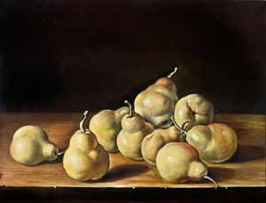 J. Van Hulsdonck - Nature morte with pears, 17th century