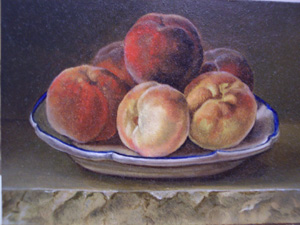 Gerard Van Spaendonck - Nature morte with peaches