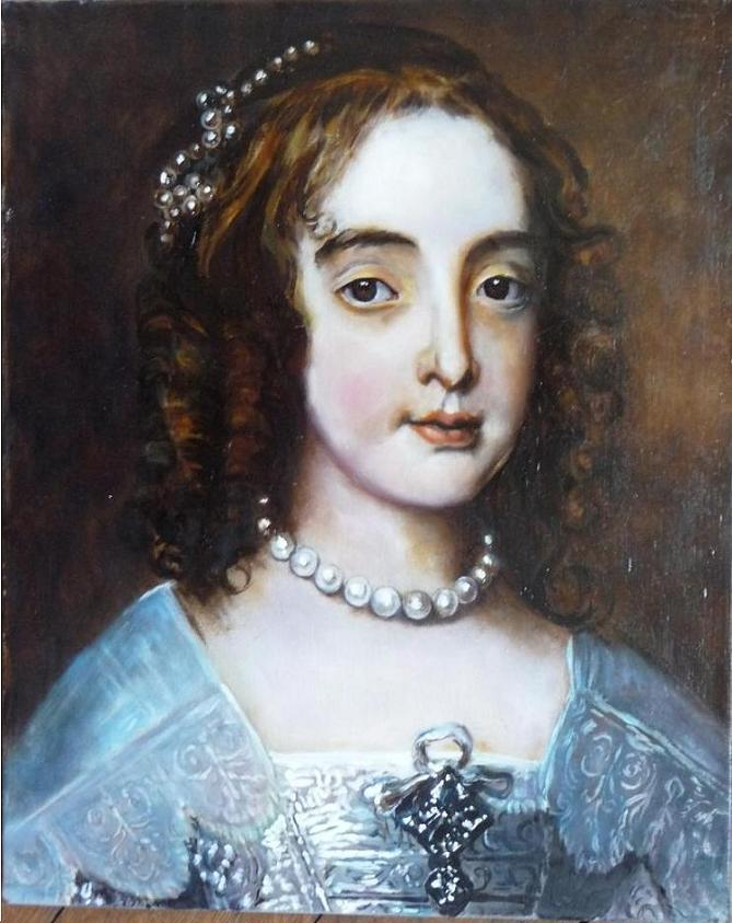 Van Dyck - Mary, Princesse d'Orange - Détail