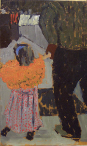 Vuillard - The young girl with the orange shawl